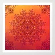 Art Print featuring Sun Mandala by Mantra Mandala