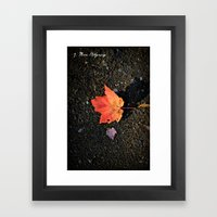 Lonesome Framed Art Print