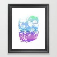 Monkeys In Living Color Framed Art Print