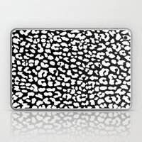 White Black Leopard Laptop & iPad Skin