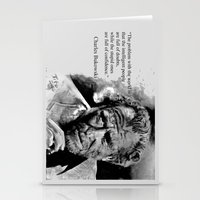 BUKOWSKI - people quote  Stationery Cards
