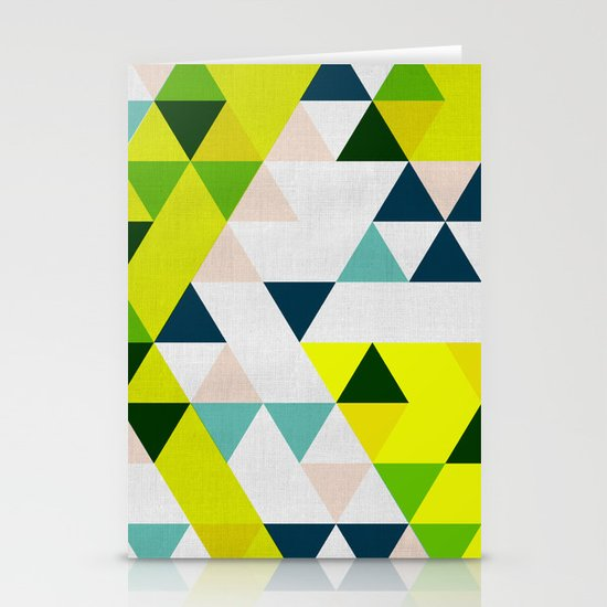 Triangles 1 Stationery Card