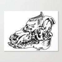 Pig Skull Canvas Print