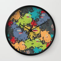 Funny microbes. Wall Clock