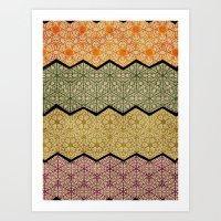 Pattern, Zig, Pattern, Z… Art Print