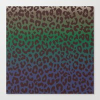 LEOPARD Hue-TAUPE GREEN … Canvas Print