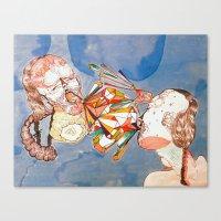 argue argue Canvas Print