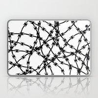 Trapped Black On White Laptop & iPad Skin