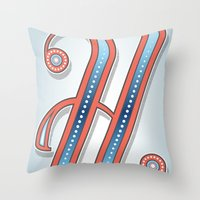 Letter H Throw Pillow