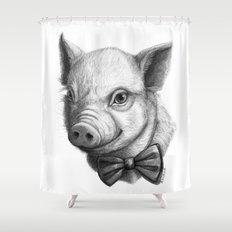BowTie Piglet G136 Shower Curtain