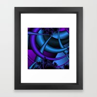 purple and blue fractal Framed Art Print