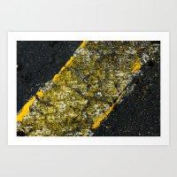 asphalt 3 Art Print