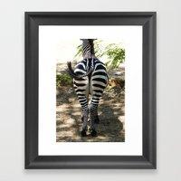 Do These Stripes Make My… Framed Art Print