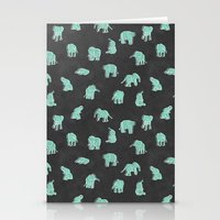 Indian Baby Elephants Bl… Stationery Cards