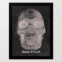 RoboSkull Art Print