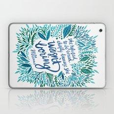 Zelda Fitzgerald – Blue on White Laptop & iPad Skin