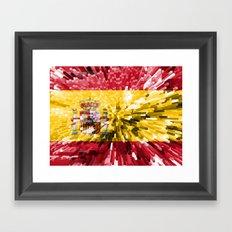 Spain Flag - Extrude Framed Art Print