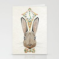 rabbit Stationery Cards featuring rabbit by Manoou