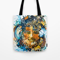 the woman's face #1 Tote Bag