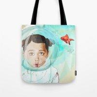 Fish Girl Tote Bag