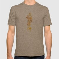 C3PO Mens Fitted Tee Tri-Coffee SMALL