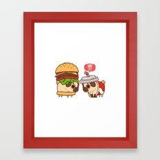 Puglie Burger and Cola Framed Art Print