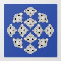 Sheep Circle - 3 Canvas Print
