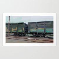 on rails Art Print