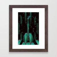 breathing music tonight Framed Art Print
