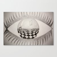 Look Into My World Canvas Print