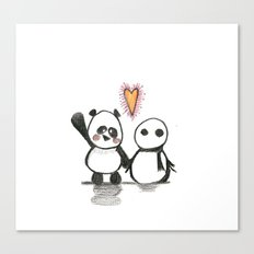 Love is in the air - Panda  Canvas Print