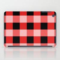 Red squares iPad Case