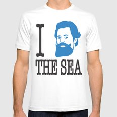 I __ The Sea Mens Fitted Tee White SMALL