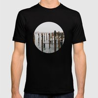 Pillars Mens Fitted Tee Black SMALL