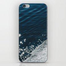 sea - midnight blue silk iPhone & iPod Skin
