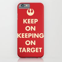 iPhone & iPod Case featuring Keep On Keeping On Target (Red) by Zachary Burns