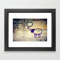 Urban Sheep Framed Art Print