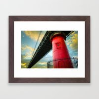 Little Red Lighthouse Framed Art Print