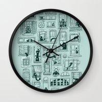 I've Seen Strange Things in City Windows Wall Clock