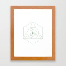 #243 Antenna – Geometry Daily Framed Art Print