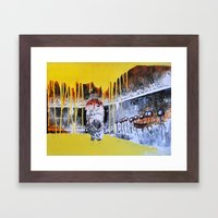 Mixed Media Art Yellow R… Framed Art Print