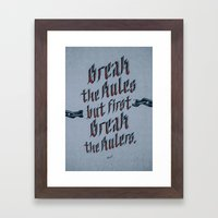 Break The Rules (variant… Framed Art Print