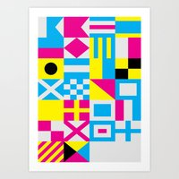 Nautical Alphabet CMYK Art Print