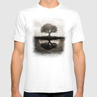 The Lone Night Reflex Mens Fitted Tee White SMALL