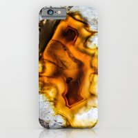 Honey Amber Agate frozen in time  iPhone 6 Slim Case