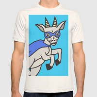 The Mighty Flash Goat Mens Fitted Tee Natural SMALL