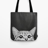 Tote Bag featuring You Asleep Yet? by Laura Graves