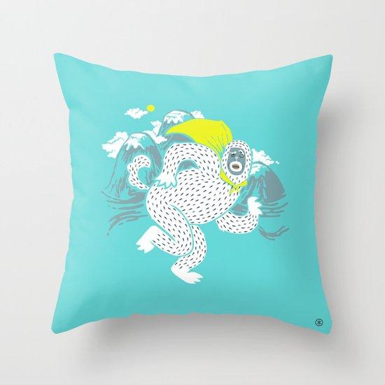 Save the Yeti Throw Pillow