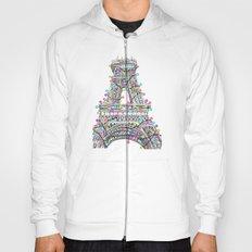 Paris Eiffel Tower Holiday Lights Multi Hoody