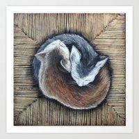 Cats Rest Art Print